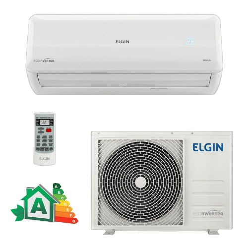 Ar Condicionado Split Hi-Wall Eco Inverter Elgin 9.000 BTUs Quente/Frio 220V